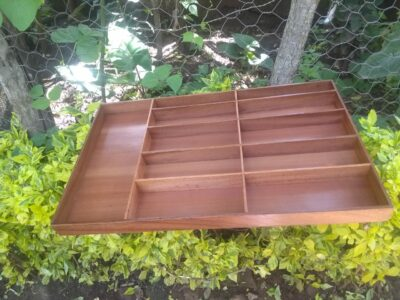Cutlery drawer with the dimensions LxWxH 77 x 48 x 5 cm made within custom made realization