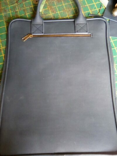 """Custom made blue laptop bag for a 15.6"""" laptop within custom made realization"""