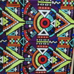 Custom made curtains with African Wax Prints within custom made realization