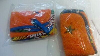 Custom made hand towels with Kitenge border