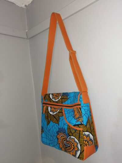 Custom made messenger bag about 25 cm high and 40 cm wide within custom made realization