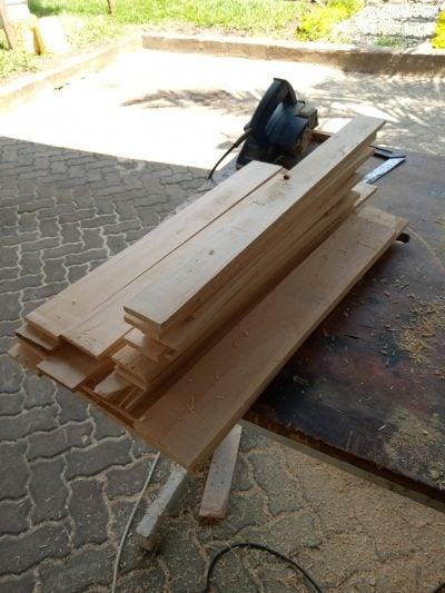 maßgefertigter Besteckkasten aus Holz B 40,5 T 49,6 H 6,75 waehrend der Massanfertigung