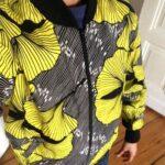 Custom made wax print bomber jacket photos from customer