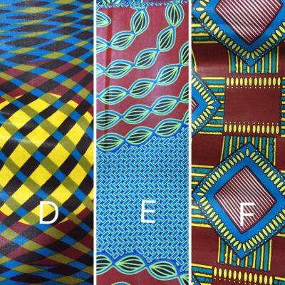 Massgeschneiderte Handtücher mit Kitenge-Einfassung waehrend der Massanfertigung