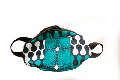 two waist bag made in kitenge