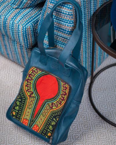 "Custom made blue laptop bag for a 15.6"" laptop"