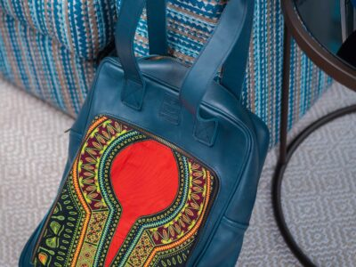 Custom made blue laptop bag for a 15.6″ laptop