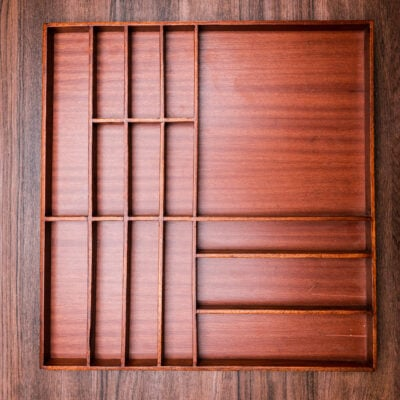custom made insert made of wood (46 x 48 cm) for a drawer