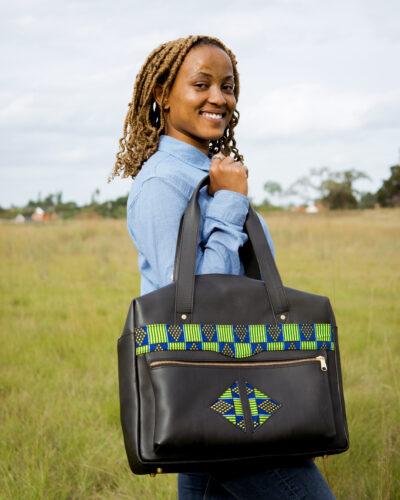 custom made laptop bag in landscape format