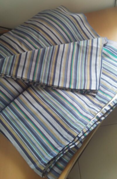 Custom made curtain of kikoi fabric
