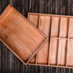 custom made cutlery tray – 48 cm wide, 47 cm deep, 5 cm high