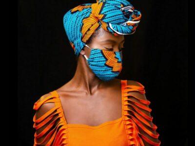 Mundschutz mit passendem Kopftuch