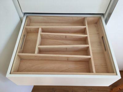 maßgefertigter Besteckkasten aus Holz B 40,5 T 49,6 H 6,75 Fotos vom Kunden