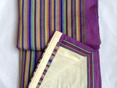 Custom made African print curtains