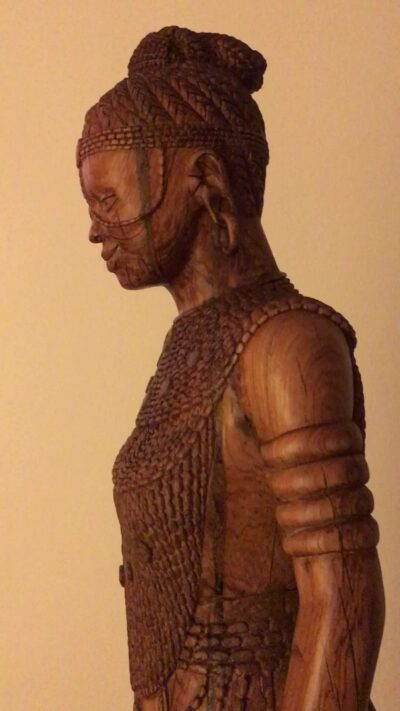 Buddha sculpture (female and African) photos from customer