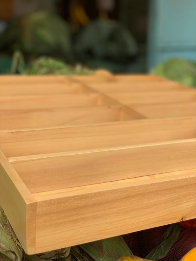 Custom made: 2 cutlery boxes made out of wood